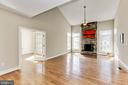 Great Room with wood burning stone fireplace - 11911 CRAYTON CT, HERNDON