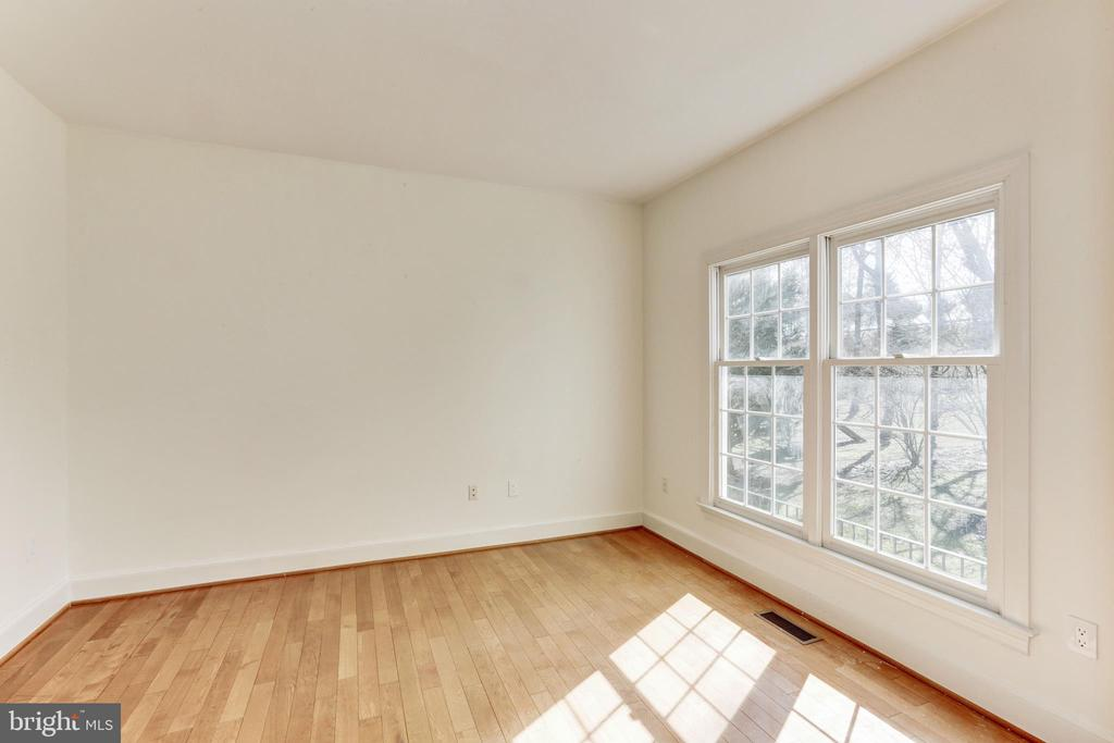 Office with French doors and view to yard on ML - 11911 CRAYTON CT, HERNDON