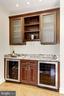 Butler pantry with 2 wine refrigerators - 11911 CRAYTON CT, HERNDON