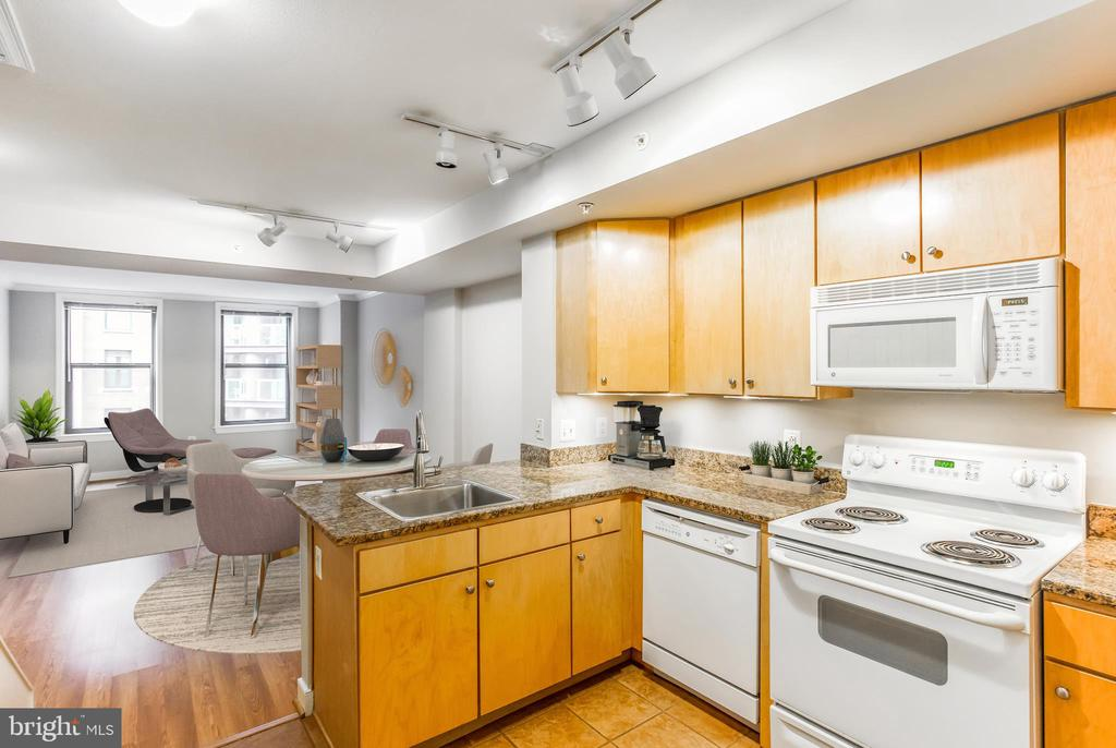Glistening, Modern Living Area - 616 E ST NW #655, WASHINGTON