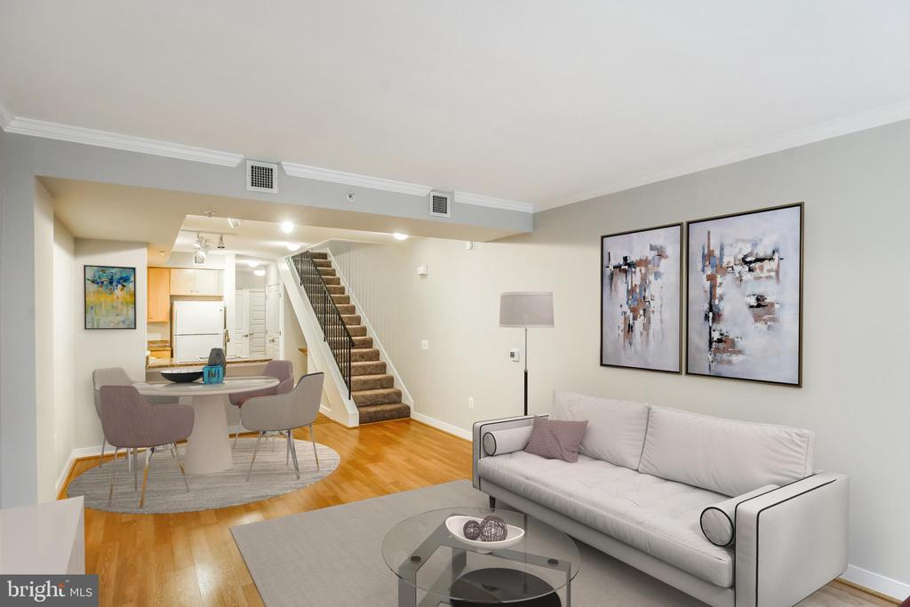 Open-Concept Floor Plan with Entertaining Spaces - 616 E ST NW #655, WASHINGTON