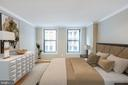 Serene Master Bedroom~Overlooks Large Courtyard - 616 E ST NW #655, WASHINGTON