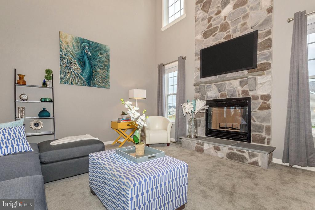2-Story Family Room w/ optional Stone Fireplace - 501 ISAAC RUSSELL, NEW MARKET