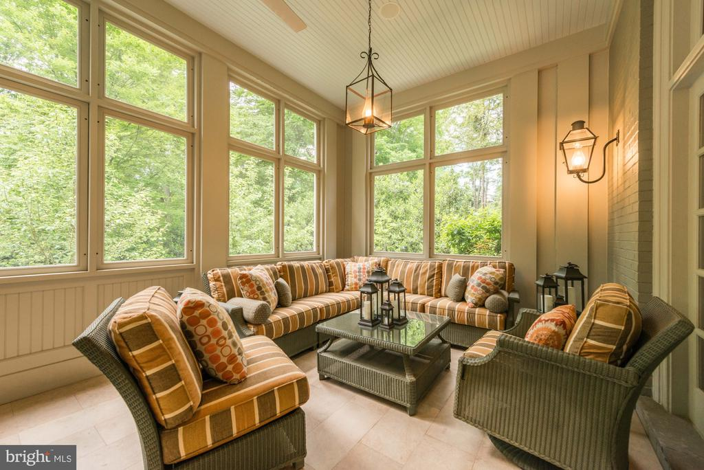 Screened Porch off Billiard Room - 4934 INDIAN LN NW, WASHINGTON
