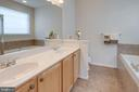 Master bath with double vanity - 6136 FERRIER CT, GAINESVILLE