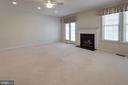 Family room walks out onto deck - 6136 FERRIER CT, GAINESVILLE