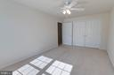Upper level bedroom 3 with large closet - 6136 FERRIER CT, GAINESVILLE
