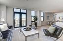 Oversized windows w/ access to a balcony - 1427 RHODE ISLAND AVE NW #PH3, WASHINGTON