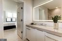 en-suite guest bath with Porcelanosa tiles - 1427 RHODE ISLAND AVE NW #PH3, WASHINGTON