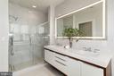 Master bath en-suite w/ walk-in glass shower - 1427 RHODE ISLAND AVE NW #PH3, WASHINGTON