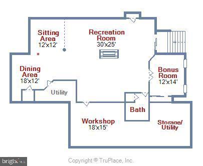 Lower Level Floor Plan - 38961 SHIRE MEADOW LN, HAMILTON