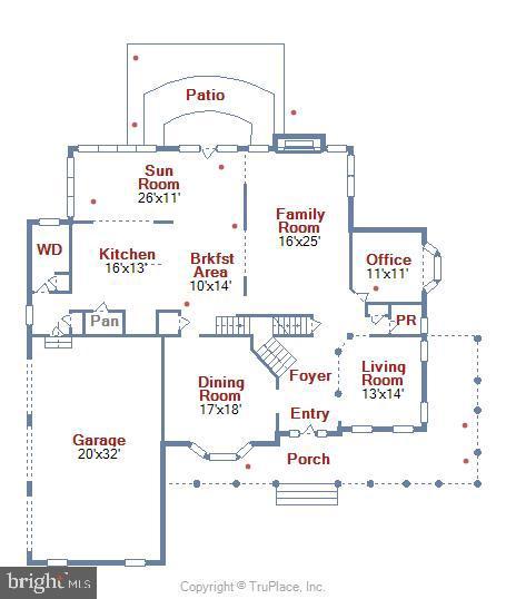 Main Level Floor Plan - 38961 SHIRE MEADOW LN, HAMILTON
