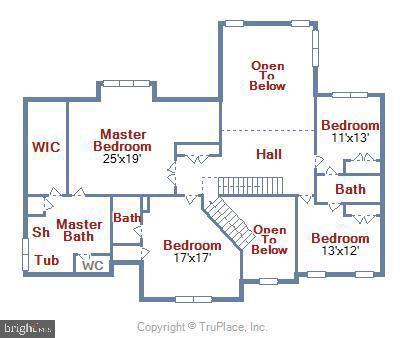 Upper Level Floor Plan - 38961 SHIRE MEADOW LN, HAMILTON
