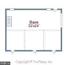 Barn Floor Plan - 38961 SHIRE MEADOW LN, HAMILTON