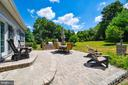 Outdoor entertaining with fire pit and patio - 38961 SHIRE MEADOW LN, HAMILTON