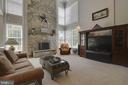 Gorgeous two story stone fireplace - 38961 SHIRE MEADOW LN, HAMILTON