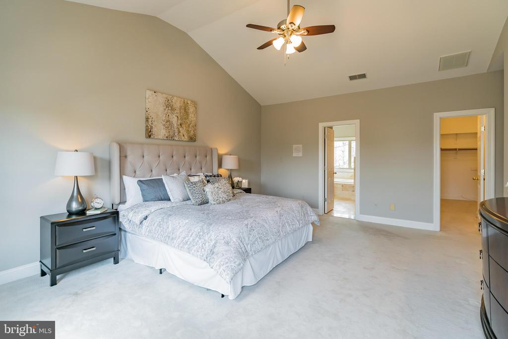 Master suite with overhead ceiling fan & light - 20440 SWAN CREEK CT, STERLING