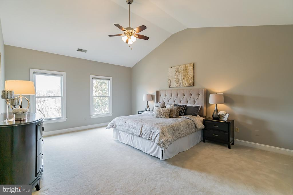 Master suite with cathedral ceiling - 20440 SWAN CREEK CT, STERLING