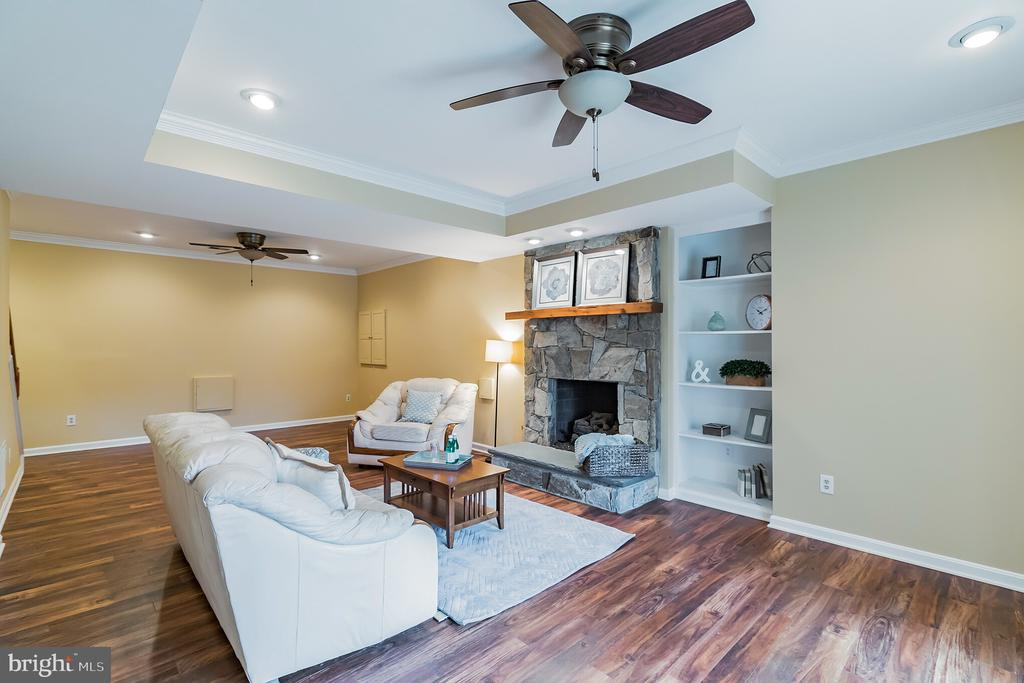 Fireplace, built ins on lower level - 20440 SWAN CREEK CT, STERLING
