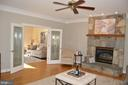 French doors with custom etched glass inlays - 20440 SWAN CREEK CT, STERLING