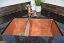 Beautiful undermount copper sink & faucet - 20440 SWAN CREEK CT, STERLING