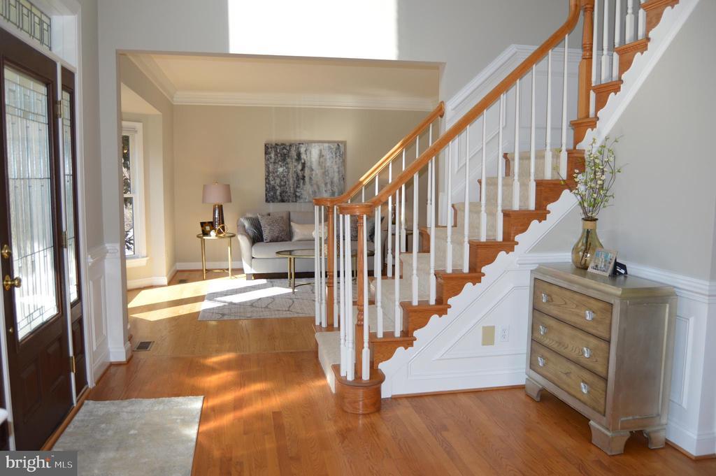 Two story foyer, beautiful custom front door - 20440 SWAN CREEK CT, STERLING