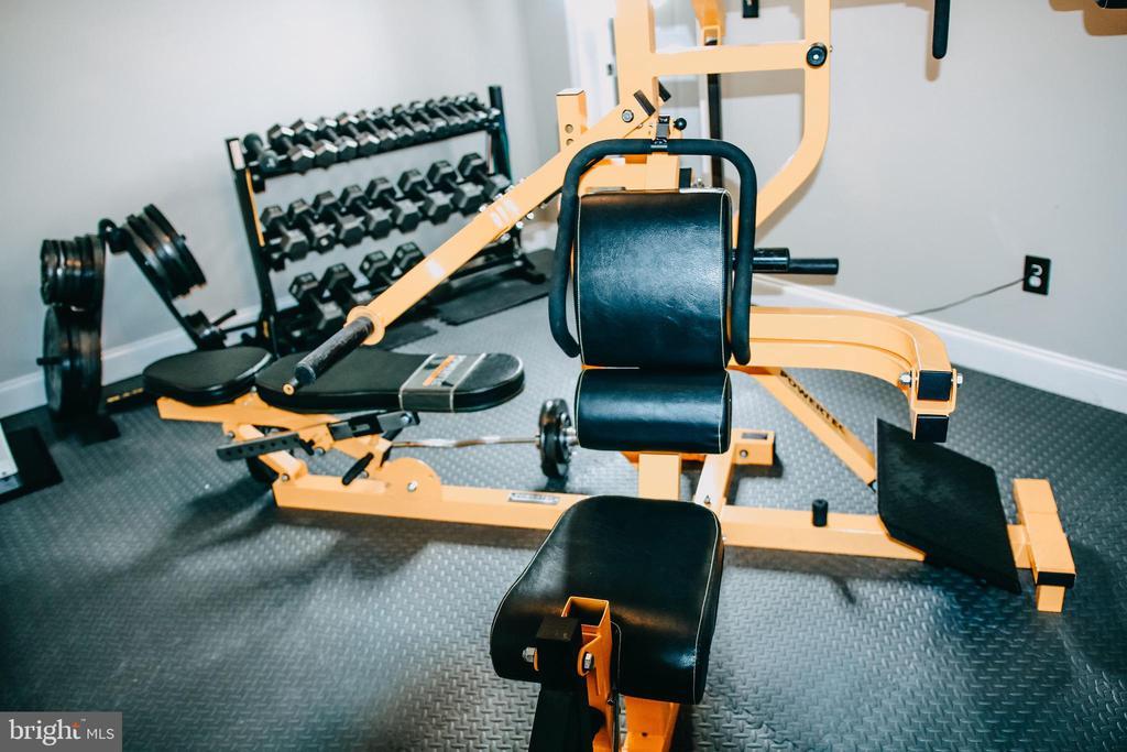 Padded floor in exercise room - 42744 RIDGEWAY DR, BROADLANDS