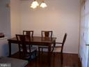 Dining Area From Kitchen - 10012 GRASS MARKET CT, FREDERICKSBURG