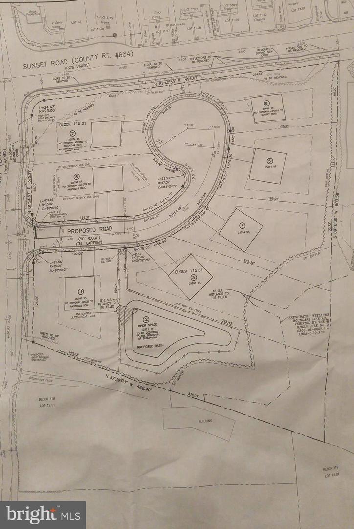 Земля для того Продажа на 205 SUNSET Road Burlington, Нью-Джерси 08016 Соединенные Штаты