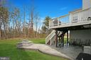 Large deck, stamped concrete patio with firepit - 181 MILL RACE RD, STAFFORD