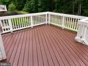 Refinished deck to enjoy the quiet backyard - 181 MILL RACE RD, STAFFORD