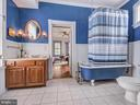 Third level full bathroom with clawfoot tub! - 30 E 3RD ST E, FREDERICK
