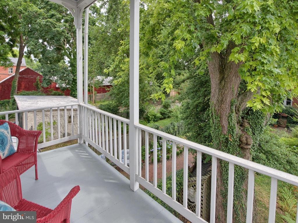 Enjoy summer evenings on this balcony. - 30 E 3RD ST E, FREDERICK