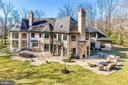 Rear w/ Outdoor Kitchen + Fireplace - 9811 AVENEL FARM DR, POTOMAC