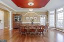 Architecturally detailed ceiling and trim work. - 13300 IVAKOTA FARM RD, CLIFTON