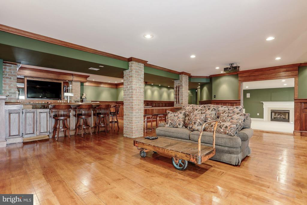 Brick pillars and hand crafted paneling