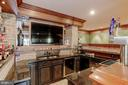 Faux finished cabinets, ice maker and refrigerator - 13300 IVAKOTA FARM RD, CLIFTON