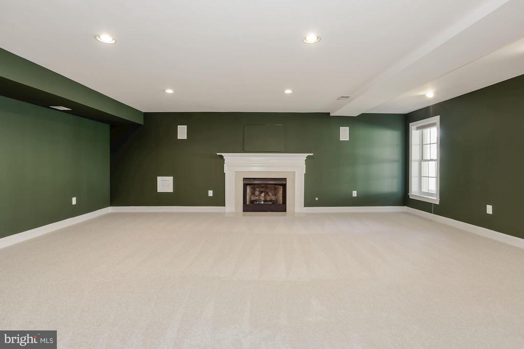 Huge lower level room with a marble gas fireplace. - 13300 IVAKOTA FARM RD, CLIFTON