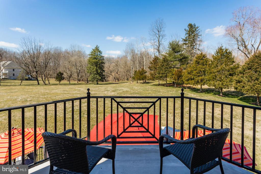Master suite deck over looks the grounds. - 13300 IVAKOTA FARM RD, CLIFTON