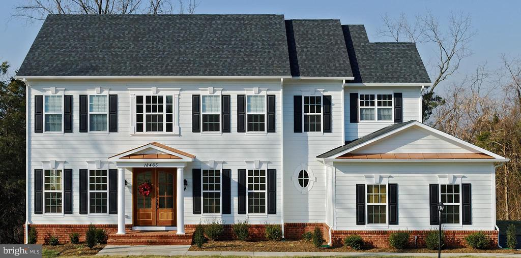 Elevation 1A shown w/ optional mahogany doors - PHEASANT CHASE CT, PURCELLVILLE