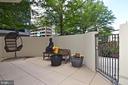 Ample patio space to enjoy! - 1530 KEY BLVD #131, ARLINGTON