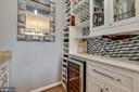 Great Custom Butler Pantry off the Dining Room - 41957 DONNINGTON PL, ASHBURN