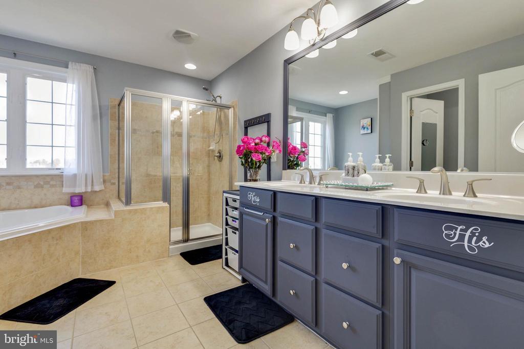 Luxury Master Bath with Shower and Soaking Tub - 41957 DONNINGTON PL, ASHBURN