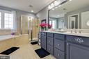 Luxury Master Bath with Shower and Soaking Tub - 41957 DONNINGTON PL, ASHBURN