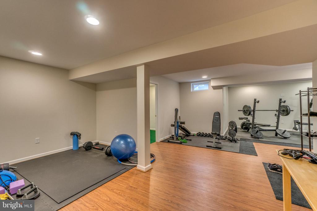 Basement Home Gym - 12 PIERRE EMMANUEL CT, FREDERICKSBURG