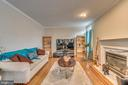 Gas Fireplace in Living Room - 12 PIERRE EMMANUEL CT, FREDERICKSBURG