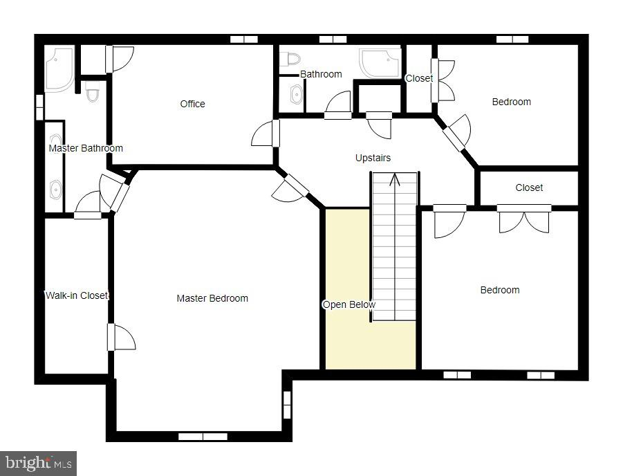 Upper Level Floor Plan - 12 PIERRE EMMANUEL CT, FREDERICKSBURG