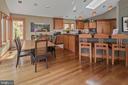 Gourmet Kitchen/Breakfast Room - 6201 POINDEXTER LN, NORTH BETHESDA