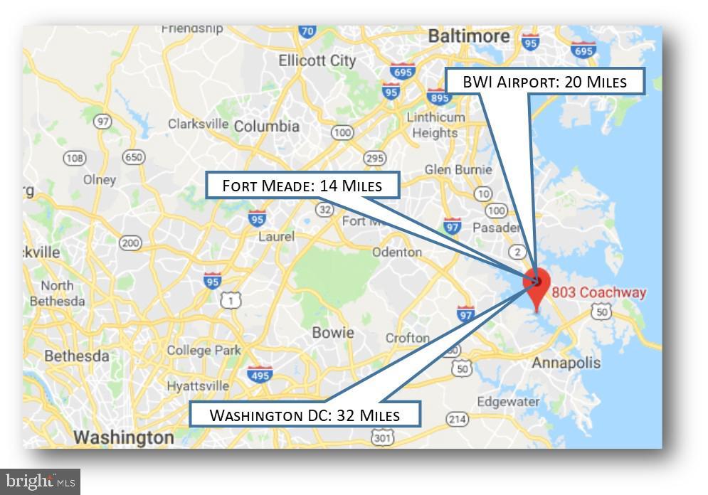 Location Map - 803 COACHWAY, ANNAPOLIS