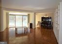 Living room to dining room - 5610 WISCONSIN AVE #406, CHEVY CHASE